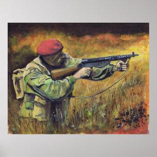 British Paratrooper WW2 Poster