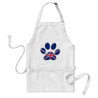 British patriotic cat standard apron