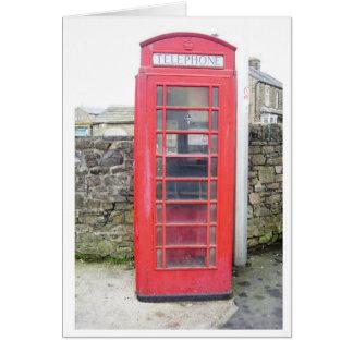 British Phone Box Card