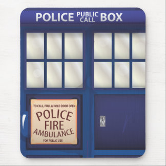 British Police Box Mouse Pad