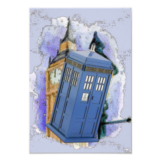 British Police Box Party Card