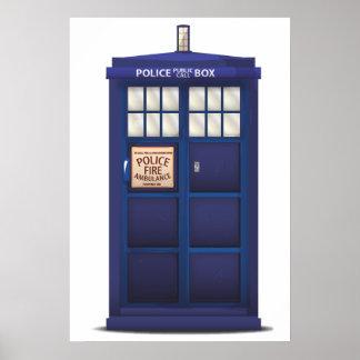 British Police Box Poster