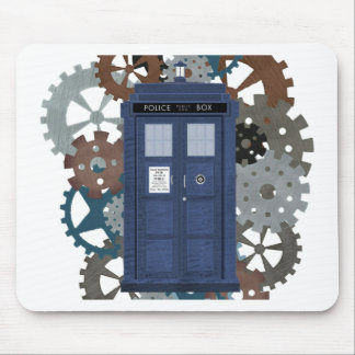 British Police Box with Clockwork Mouse Pad
