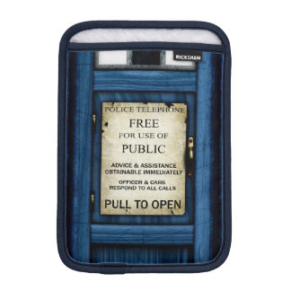 British Police Public Call Box Sign iPad Mini Slip iPad Mini Sleeves
