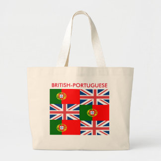 BRITISH-PORTUGUESE JUMBO TOTE BAG