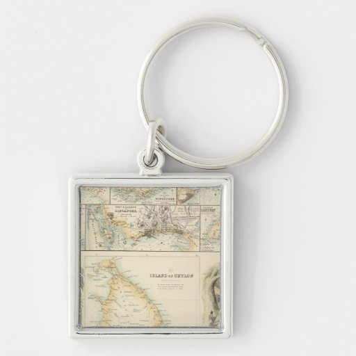 British Possessions in the Indian Seas Keychains