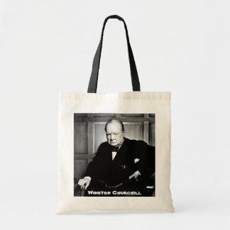 British Prime Minister Sir Winston Churchill Canvas Bag