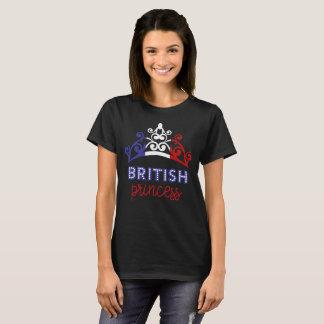 British Princess Tiara National Flag T-Shirt