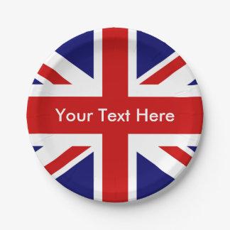 British Pub Union Jack 7 Inch Paper Plate