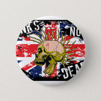 British Punk Not Dead 6 Cm Round Badge