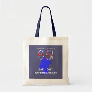 British Queen Elizabeth II Sapphire Jubilee Tote Bag