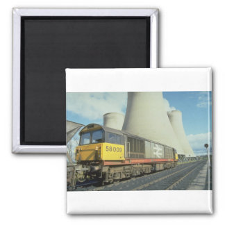 British Rail coal train at power station, U.K. Refrigerator Magnet