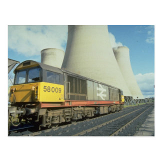 British Rail coal train at power station, U.K. Postcard