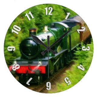 British Railway Steam Train Art V Wall Clock