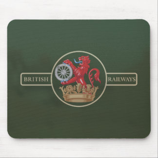 "British Railways ""Ferret and Dartboard"" Crest Mouse Pad"