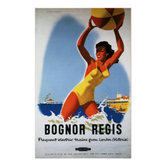 British Railways Girl and Beachball Poster