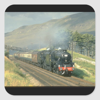British Railway's last steam-hauled_Steam Trains Square Sticker