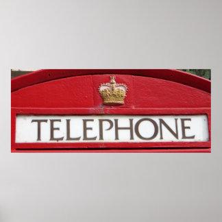 British Red Box Phone Booth Poster