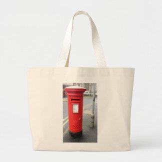 British red mail box jumbo tote bag