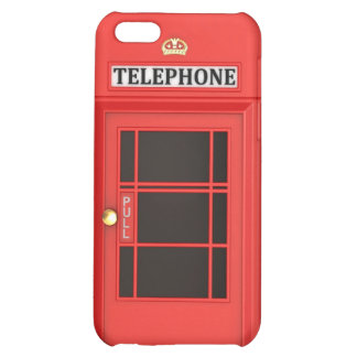 British Red Phone Booth Case For iPhone 5C