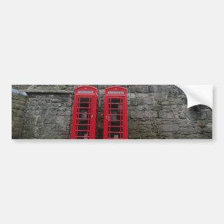 British Red Phone Boxes at Edinburgh Castle Bumper Sticker