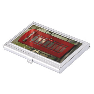 British Red Telephone Box Business Card Holder