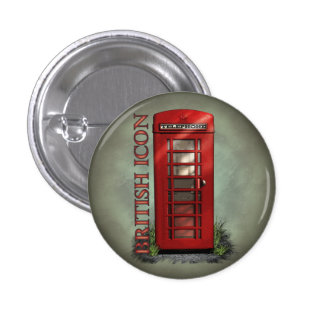 British Red Telephone Box Buttons