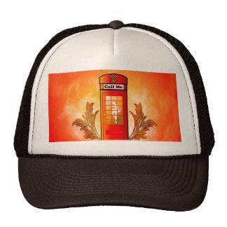 British red telephone box trucker hat
