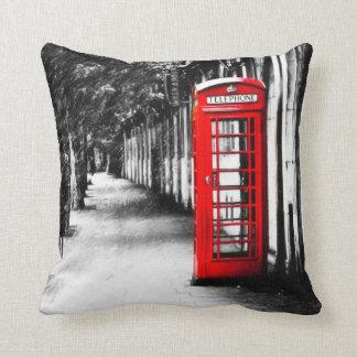 British Red Telephone Box from London Cushion