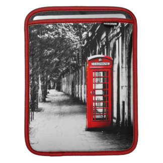 British Red Telephone Box from London iPad Sleeve