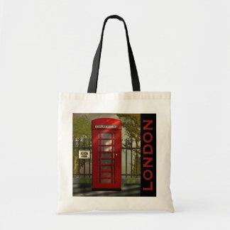 British Red Telephone Box London Tote