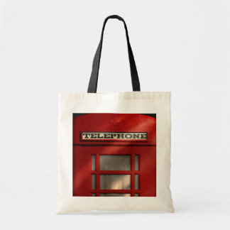 British Red Telephone Box London Tote Budget Tote Bag