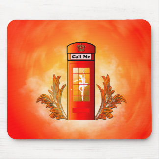 British red telephone box mouse pads