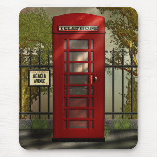 British Red Telephone Box Mousepad