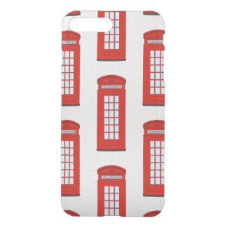 British Red Telephone Box Pattern iPhone 7 Plus Case