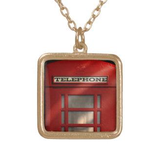 British Red Telephone Box Pendant and Chain