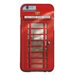 British Red Telephone Box Personalised Barely There iPhone 6 Case