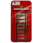 British Red Telephone Box Personalised Barely There iPhone 6 Plus Case