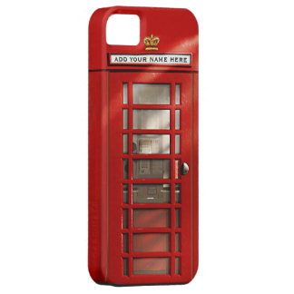 British Red Telephone Box Personalised Case For The iPhone 5