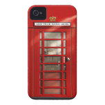 British Red Telephone Box Personalised Case-Mate iPhone 4 Cases