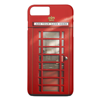 British Red Telephone Box Personalized iPhone 7 iPhone 7 Plus Case