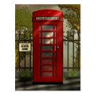 British Red Telephone Box Postcard