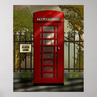 British Red Telephone Box Print