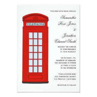 British Red Telephone Box Wedding Invitation