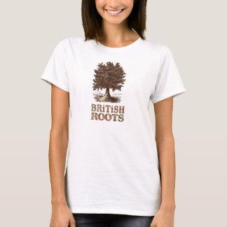 British Roots Family Tree T-shirt Tee Shirt