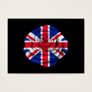 British Rose Flag on Black