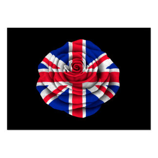 British Rose Flag on Black Pack Of Chubby Business Cards
