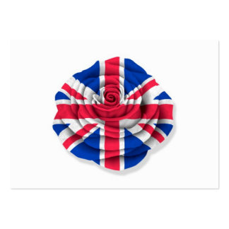 British Rose Flag on White Business Card Templates