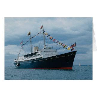"British royal yacht ""Britannia"" Card"