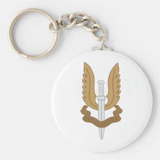 British SAS Basic Round Button Key Ring